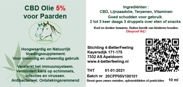 CBD (5.%) met Lijnzaadolie voor Paarden 10ml